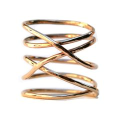 14K Gold Filled Twisted Ring, Thin Hammered Stacking Ring by IsabellaandMax, $108.00