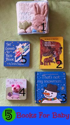 Five different types of books that work great for baby!