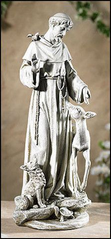 Saint Francis with Deer Garden Statue – Beattitudes Religious Gifts