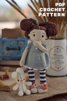 Handmade Dolls Patterns, Crochet Amigurumi Free Patterns, Crochet Doll Pattern, Doll Patterns, Yarn Dolls, Knitted Dolls, Crochet Dolls, Crochet Fairy, Cute Crochet