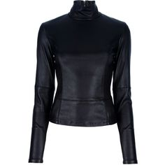MAISON MARTIN MARGIELA Fitted leather top ($2,370) ❤ liked on Polyvore
