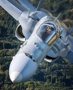 space Nah dran mit The Hornet Aufgenommen von Hesja Muhamed. Helicopter Plane, Jet Plane, Military Jets, Military Aircraft, Air Fighter, Fighter Jets, Swiss Air, Airplane Design, Aircraft Design