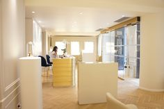 Reception area at Biologique Recherche, Paris Reception Areas, Divider, Paris, Table, Room, Furniture, Home Decor, Bedroom, Montmartre Paris
