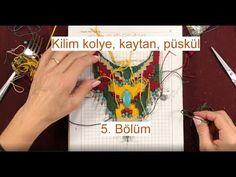 Kilim dokuma kolye, kaytan ve püsküller nasıl yapılır. Bölüm 5/6 - YouTube