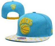 sports shoes ab445 efc2b Casquette NBA New York Knicks Snapback Bleu Jaune Star Casquette New Era  Pas Cher
