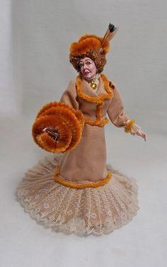Dollhouse miniature ARTISAN MARCIA BACKSTROM DOLL dressed by Mary Williams