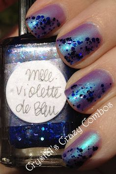 Elixir Lacquers Bad Kitty and Lynnderella Mademoiselle Violette de Bleu - on the blog today!