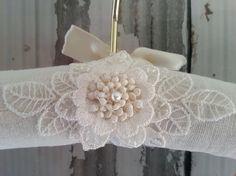 Bridal Hanger, Wedding Hanger, Photography Prop, Custom Design, Padded Hanger, Heirloom Wedding Gift Keepsake, Ready to Ship, OWDJewelry