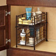 (25) Deluxe Bathroom Cabinet Drawer in Bronze