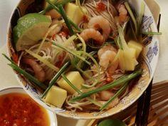 Rezept: Nudel-Garnelen-Topf mit Mango auf asiatische Art