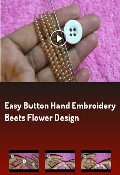 Most up-to-date No Cost mexican Embroidery Designs Thoughts Easy Button Hand Embroidery Beets Flower Design hand Embroidery Designs, Embroidery Kits, Embroidery Stitches, Flower Embroidery, Double Crochet, Easy Crochet, Cotton Cake, Mexican Embroidery, Last Stitch