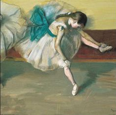 Danseuse au Repos by Edgar Degas. This was bought by an anonymous telephone bidder at a Sotheby's auction for the record-breaking sum of £17.6m in 1999, making it the most expensive Degas ever sold.