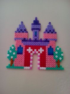 Fairy castle hama beads by fabamel