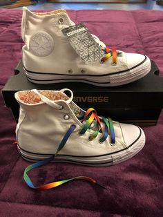 b27d3e0dea4 Converse Chuck Taylor Limited Edition Gay Pride Rainbow Shoes--Women 8    Mens 6  fashion  clothing  shoes  accessories  unisexclothingshoesaccs ...