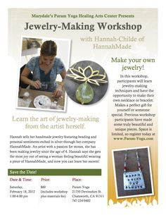 Hannah is brilliant! If you one of a kind creations this class is a MUST! U will absolutely her masterpieces! Make Your Own Jewelry, Jewelry Making, Workshop, Healing, Children, How To Make, Gifts, Young Children, Atelier