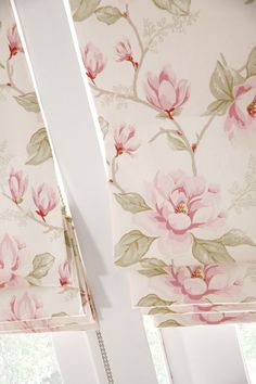 Roman Blinds - Apollo Blinds - Venetian, Vertical, Roman, Roller, Pleated and Plantation Blinds Decor Blinds, Curtains With Blinds, Botanical Prints, Floral Prints, Contemporary Fabric, Roman Blinds, Vintage Roses, Inspired Homes, Delicate
