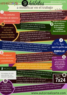 9 hábitos a modificar en el trabajo #infografia #infographic #rrhh | TICs y Formación