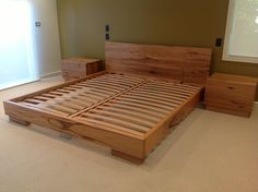 Recycled hardwood timber bed & bedsides