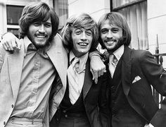 Popular English vocal trio the Bee Gees; from left to right, brothers Barry, Robin and Maurice Gibb (1949 - 2003). Photo: Sydney O'Meara, Getty Images / Getty Images 2011. Awwwww