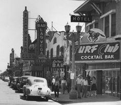 1944: Turf Club on Fremont st, Las Vegas