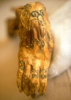 Earliest known human tattoo: Utzi the Iceman, c. 3300 BC. He had a total of 57 tattoos.