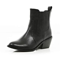 RIVER ISLAND Black western chelsea boots - ankle boots - shoes / boots - women