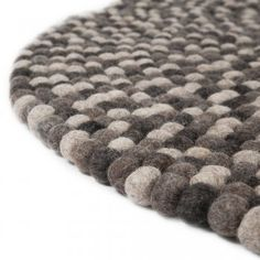 Pom Pom Round Raw Earth Natural Rug - Pom Pom from Cult Furniture UK