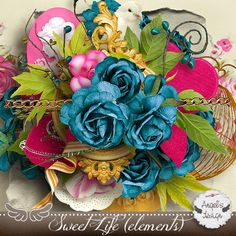 Sweet-Chick Scrap and Co Sweet Life elements by Angel's Design