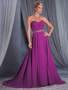 Alfred Angelo Style 9040: strapless chiffon special occasion dress