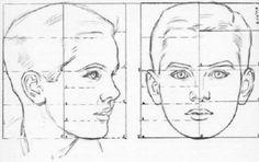 Estamos trabajando las proporciones del rostro masculino y femenino. A continuación tenéis las imágenes que hemos visto en clase para que po...