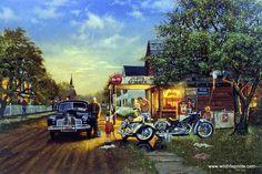Old Classic Harley-Davidson Motorcycles Vintage Jeep, Vintage Art, Vintage Stuff, Motorcycle Types, Motorcycle Art, Chopper Motorcycle, Lightning Mcqueen, Disney Cars, Jeep Wrangler