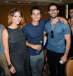 Shelley Hennig, Dylan O'Brien and Tyler Hoechlin