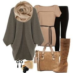 Chunky boyfriend sweater outfit