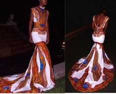 Dashiki train dress. Please provide your measuements with purchase. The dress comes in all colors. the pictures show some samples. Feel free to send me a message. anytime. Free Shipping ends 6/25/16. Thank you.