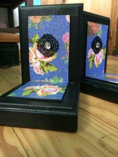 Black Elegant bookends by TFRepurposedFolkart on Etsy