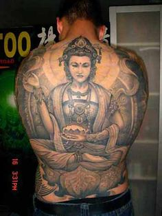 Sick back Buddha Tattoo