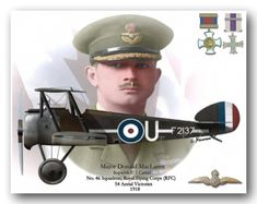 Donald Roderick MacLaren DSO, MC & Bar, DFC (28 May 1893 – 4 July 1988) was a Canadian World War I flying ace. He was credited with 54 victories and, after the war, helped found the Royal Canadian Air Force.
