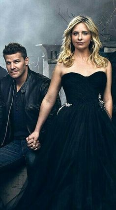 Buffy 20 Year Reunion - David Boreanaz (Angel) and Sarah Michelle Gellar (Buffy) #Bangel