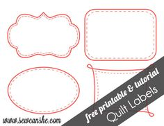 Quilt Labels! {free printable} — SewCanShe | Free Daily Sewing Tutorials