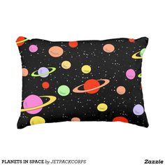 PLANETS IN SPACE ACCENT PILLOW