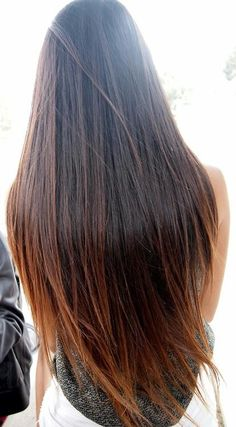 Beautiful. Note the light colors on the ends. This can be done with hair extensions too, see the professionals for more information.