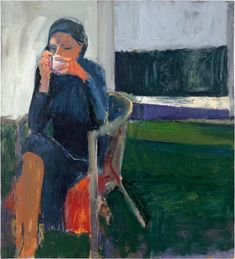 """peter walters auf Twitter: """"Thank you; one of Hopper's heirs, Richard Diebenkorn 1922 - 1993 Seated Figure with Hat 1967. More enigmatic than uneasy, Diebenkorn's subjects seemed unaware of the painter… https://t.co/EOeTOPZgkm"""""""