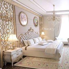 Luxury Home Interior .Luxury Home Interior Luxury Bedroom Design, Home Room Design, Master Bedroom Design, Home Decor Bedroom, Bed Design, Home Interior Design, Master Bedrooms, Classic Bedroom Decor, Royal Bedroom