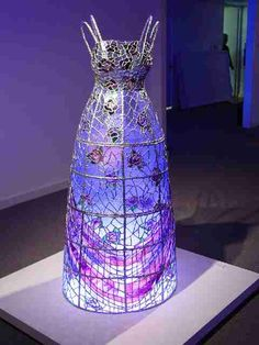 """""""solipsism""""~Jayne Lawrence. I keep seeing purple lamps made with wire, could be fabric mosaic......Hmmmmm"""