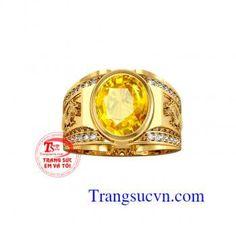 Nhẫn sapphire vàng 18k