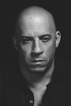 Vin Diesel - American actor and filmmaker. Photo by Shaughn and John Vin Diesel, Images Emoji, Johny Depp, Celebrity Portraits, Black And White Portraits, Hollywood Actor, Fast And Furious, Male Face, Black Actors