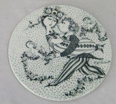ViNTAGE MiD CENTURY BJORN WiNBLAD NYMOLLE BRiDE & GROOM WEDDiNG WALL ART PLAQUE