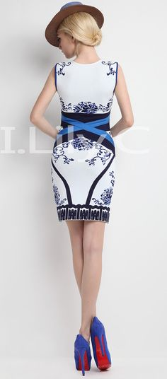 Aliexpress.com : Buy Rayon Blue And White Porcelain Sheath Mini V Neck Print  Bandage Dress   Lower Discount  Mixed Wholesale Free Shipping from Reliable dress suppliers on High Quality Celebrity Dresses $65.00