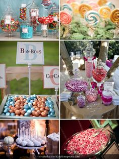 Candy Station. Easy way to do a gluten-free birthday celebration.