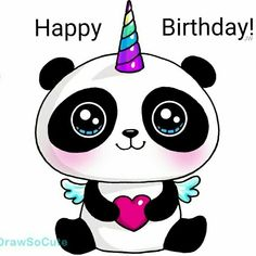 kawaii unicorn panda so lovable Kawaii Girl Drawings, Cute Animal Drawings Kawaii, Cute Easy Drawings, Panda Kawaii, Kawaii Art, Kawaii Anime, Kawaii Doodles, Cute Doodles, Images Kawaii